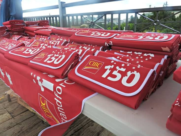 CIBC picnic blankets for Picnic on the Bridge