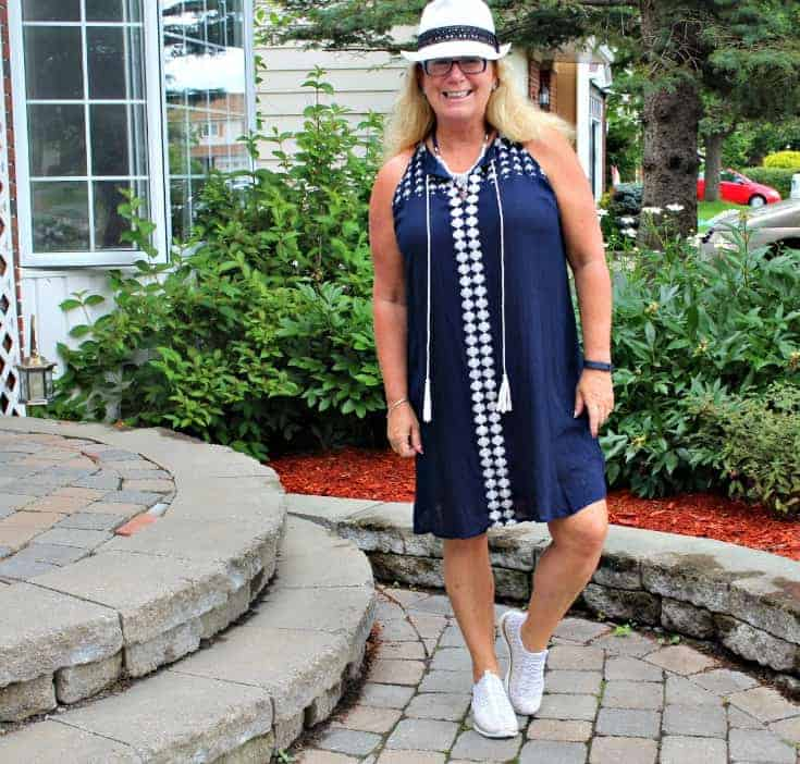 Lily Morgan Crinkle Dress from Giant Tiger and the Flex Appeal Skechers