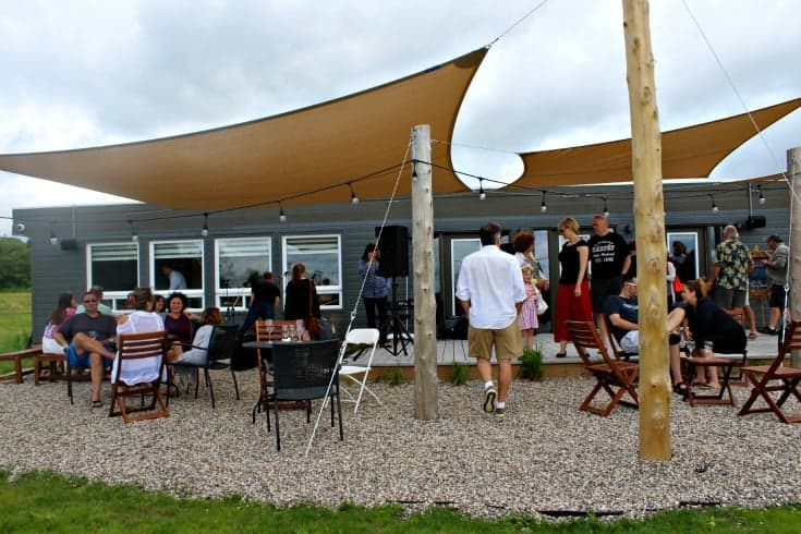 view of the patio at Grand Opening of Kin Vineyards