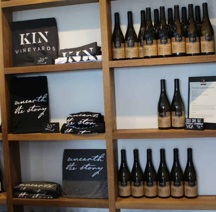 wines at Grand Opening of Kin Vineyards