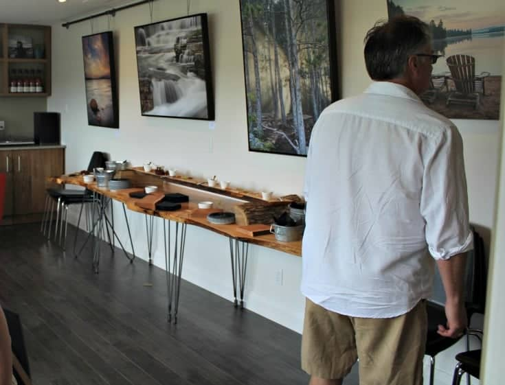 tasting room at the Grand Opening of Kin Vineyards