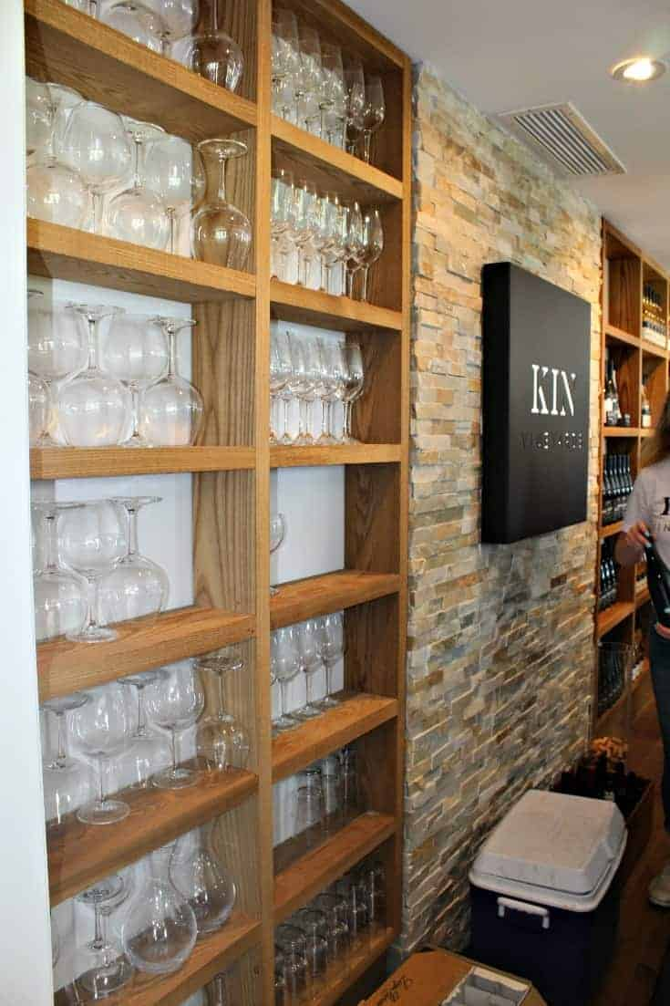 new tasting room during the Grand Opening of Kin Vineyards