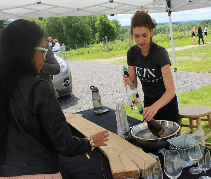 wine tasting Grand Opening of Kin Vineyards
