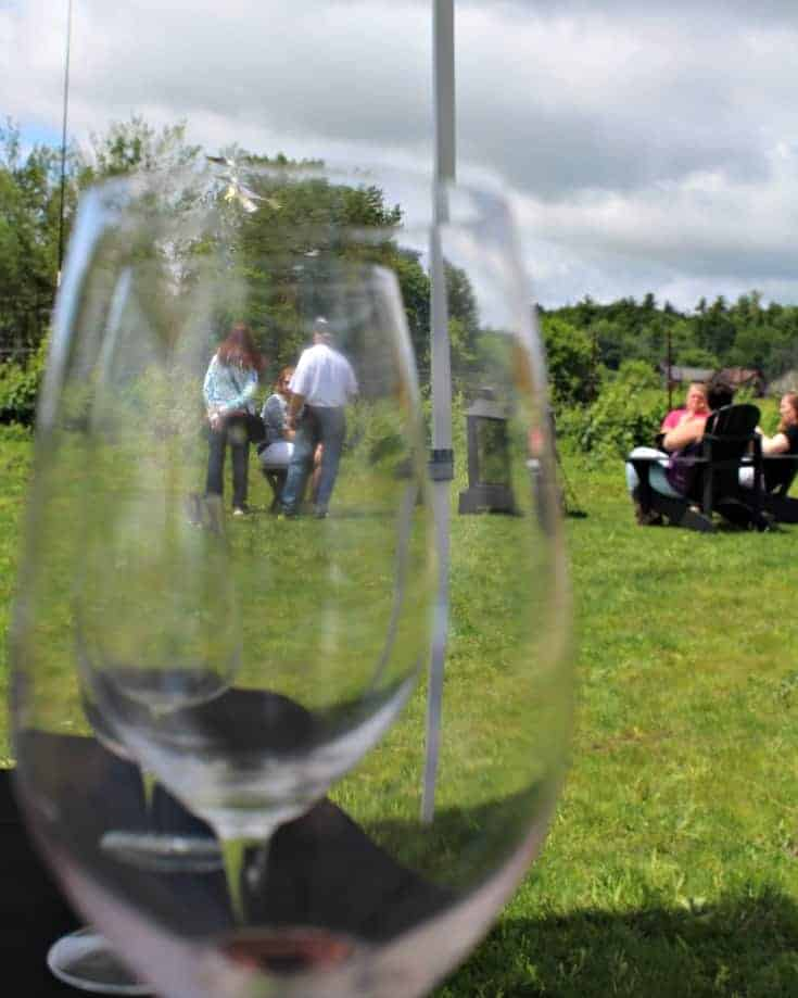 sipping on the patio at Grand Opening of Kin Vineyards