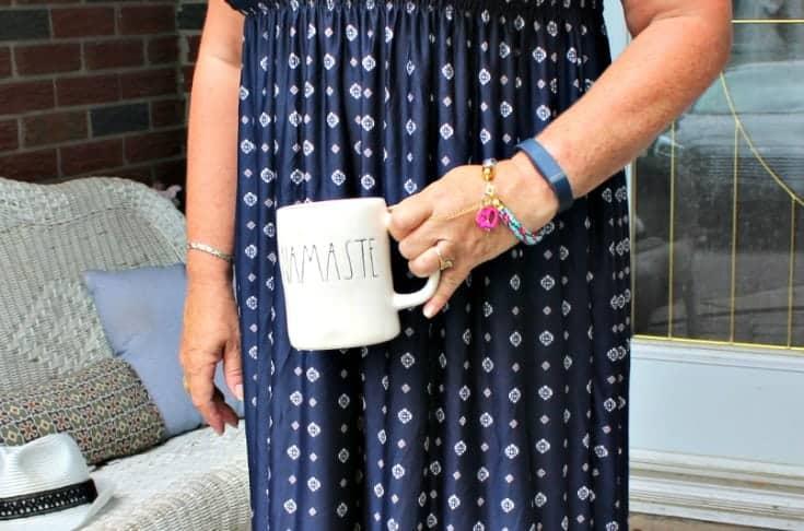 Namaste Mug from Rae Dunn