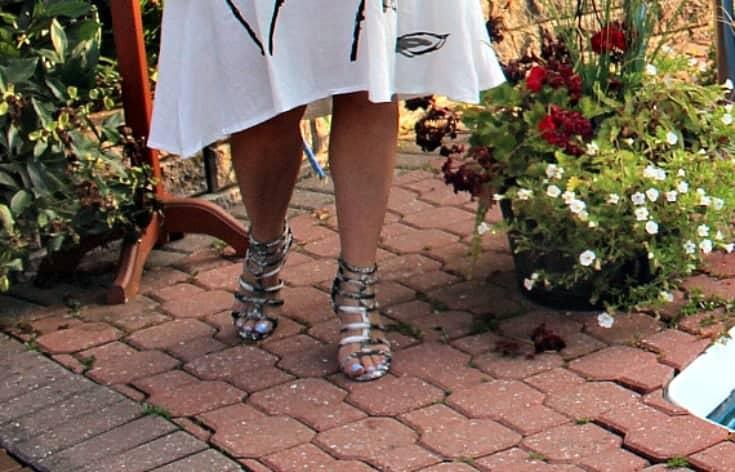 shoe dazzle gladiator sandals in snakeskin