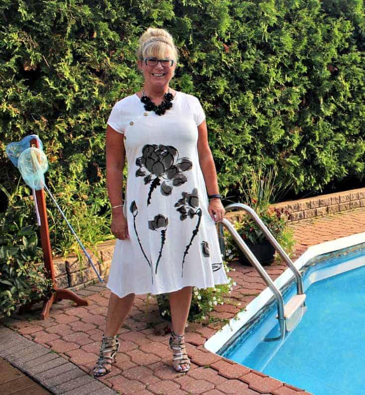 Fashion Mia White Linen Shift