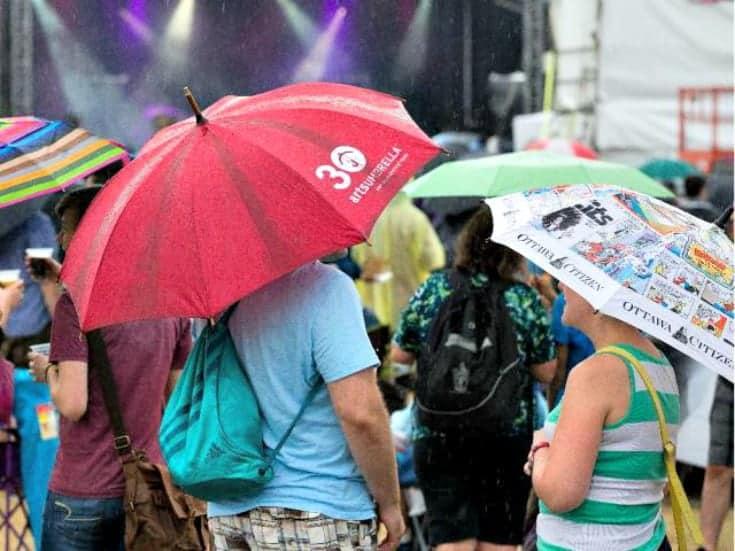 umbrellas at the festival