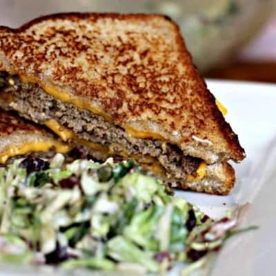 Homemade Grilled Cheese Hamburger Sandwich