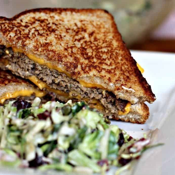grilled cheese hamburger