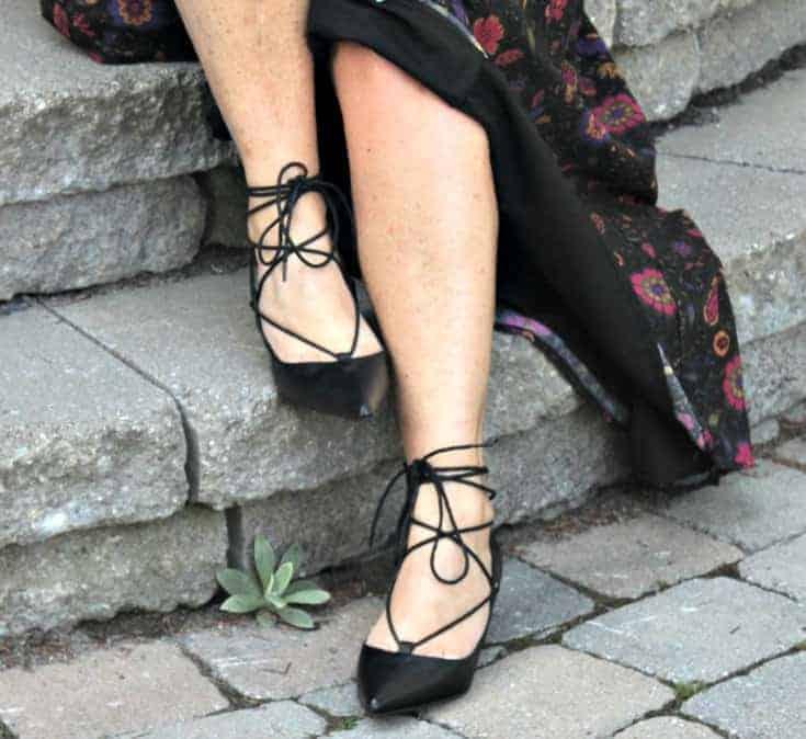 black kitten heels from Shoe Dazzle