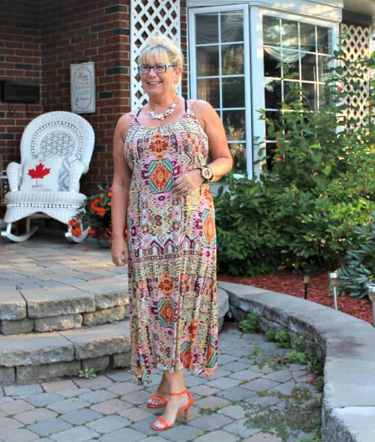target sundress and shoe dazzle heels with a jord watch and a Necklace from Avon