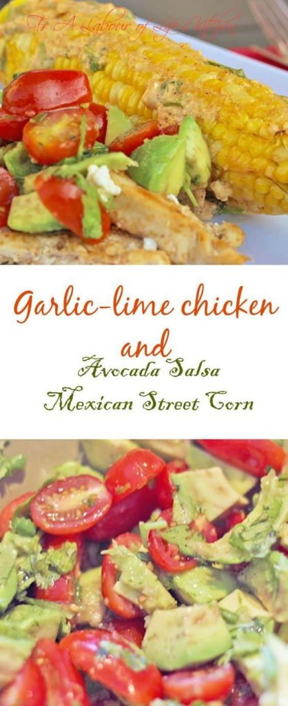 garlic lime chicken mexican street corn