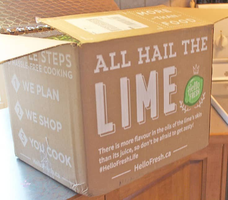 box of goodies from Hello Fresh
