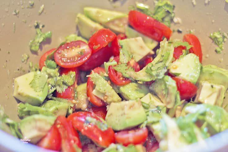 avocado salsa for a mexican dinner