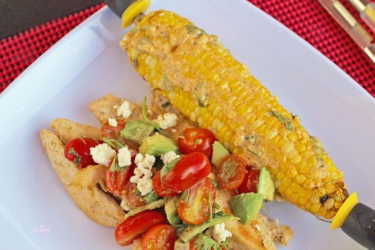 street corn on a plate