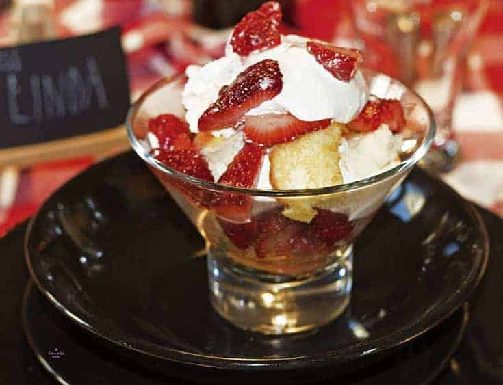 quick and easy Strawberry Shortcake for dessert