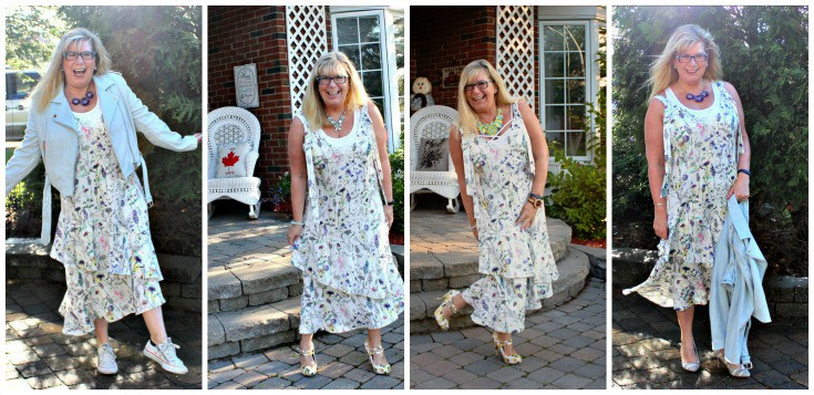 H&M Floral Crepe Dress styled a few ways