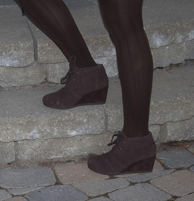 brown wedge bootie from skechers