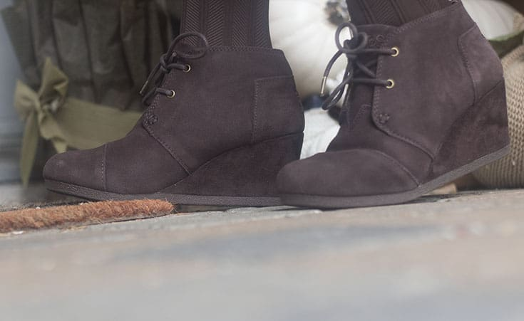 wedge boot from skechers