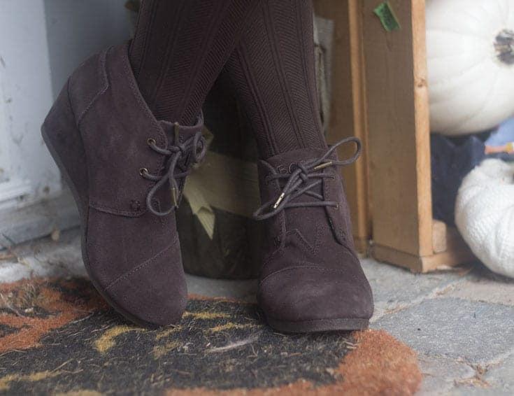 brown wedge booties from skechers