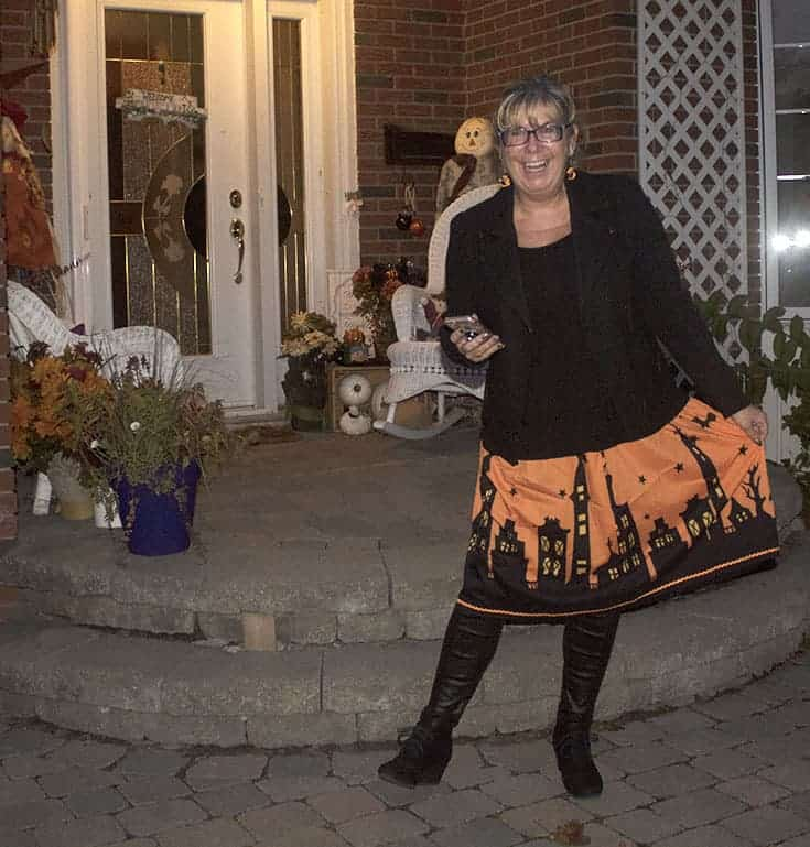 Halloween skirt by Gamiss, Banana republic moto and fun leather leggings