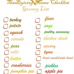 Thanksgiving Shopping Printable