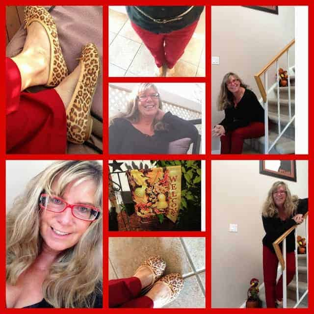 what to wear for Thanksgiving Celebrations-red black and leopard