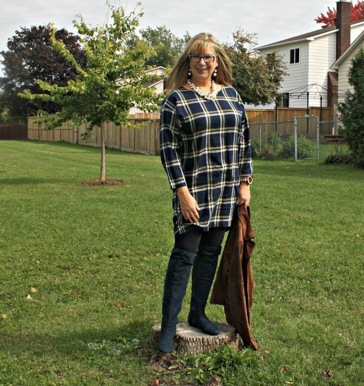 what to wear for Thanksgiving Celebrations- Old Navy Plaid