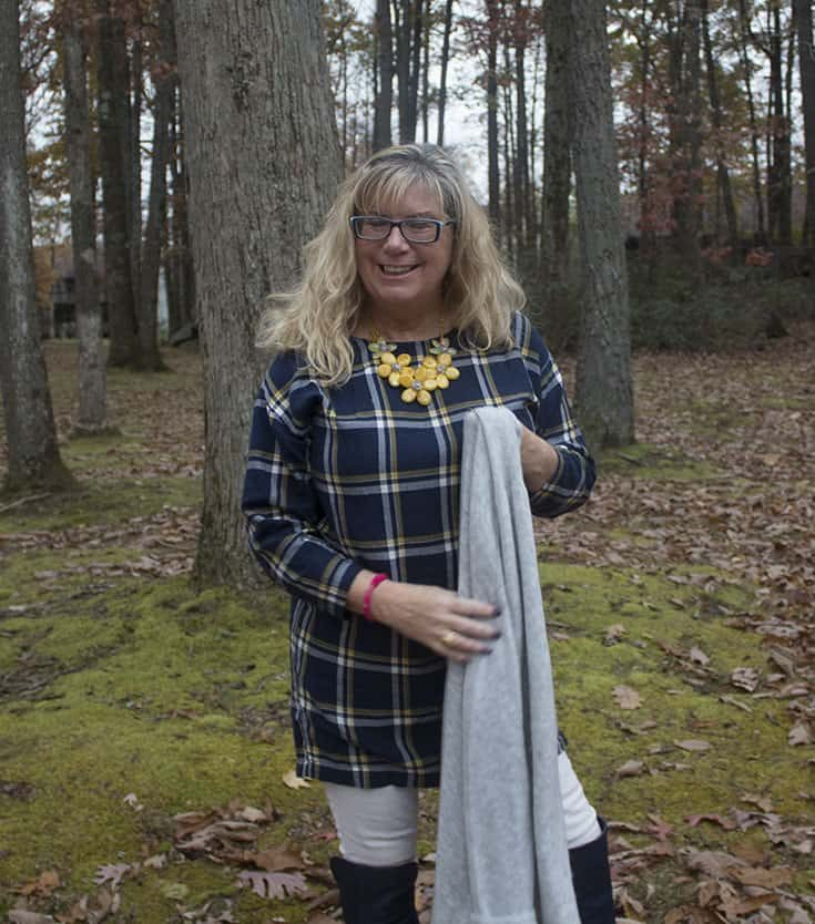 Gentle Fawn Cardigan over an Old Navy Tunic