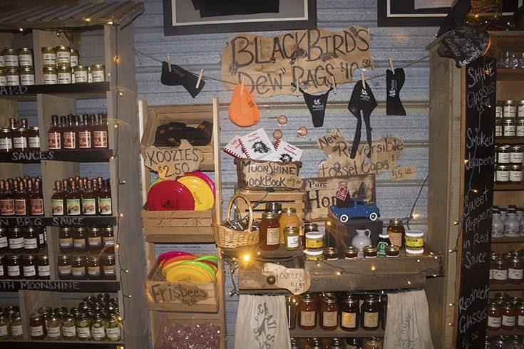 Showroom at Blackbird Distillery serving Old Fashion Moonshine