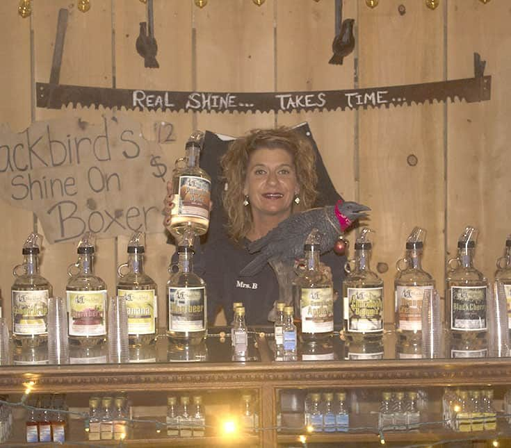 Mrs B at Blackbird Distillery Old Fashion Moonshine