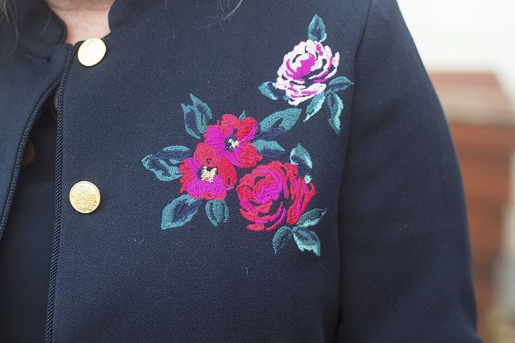 Embroidered Blazer from Target