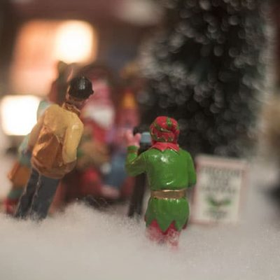 A Little bit of Christmas Cheer in A Lemax Christmas Village