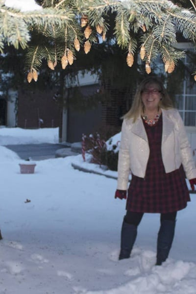 A Christmas Cash Giveaway and a Fun Plaid Dress