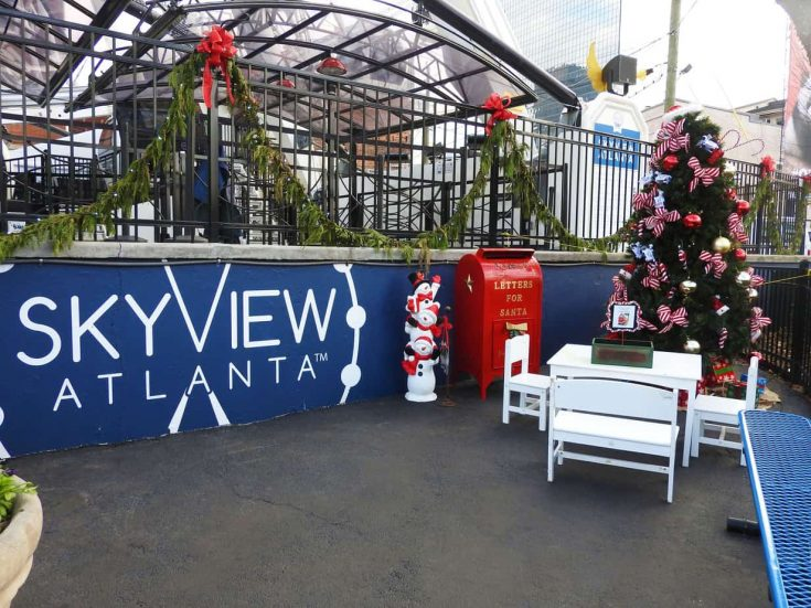 SkyView Ferris Wheel in Atlanta ready for the holidays