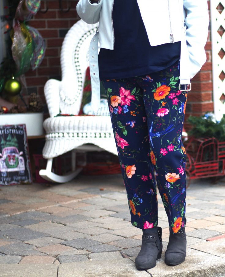 winter florals from Old Navy