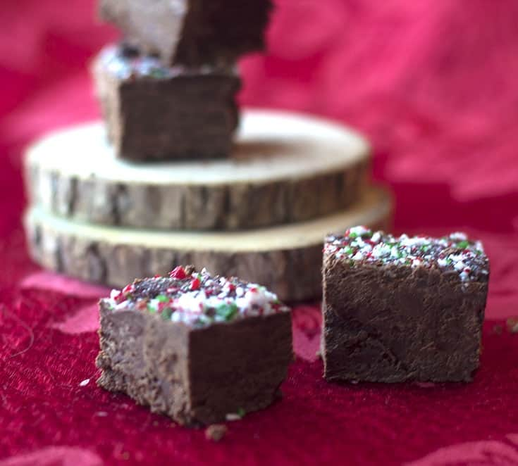 two ingredient fudge for Christmas- easy to follow recipe that your children can make