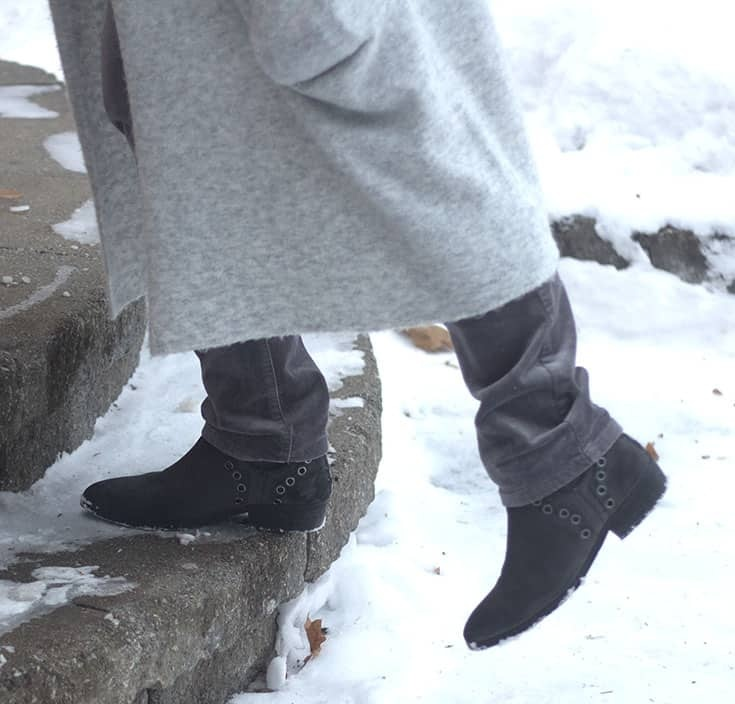 forever 21 grey booties