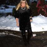 HM Black Velvet glitter dress