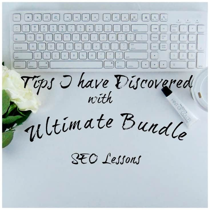 SEO Tips I discovered with my Ultimate Bundle with Helen's Picture to illustrate