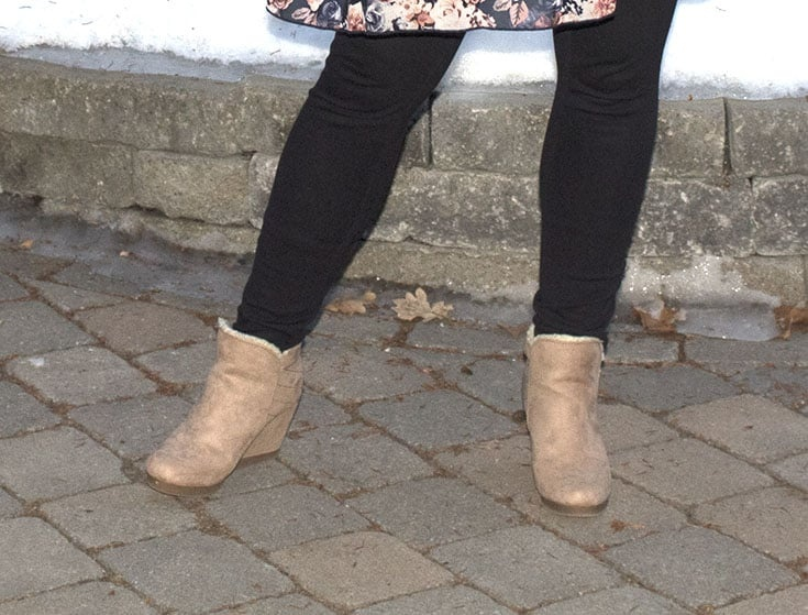 blush wedge boot from Shoe dazzle