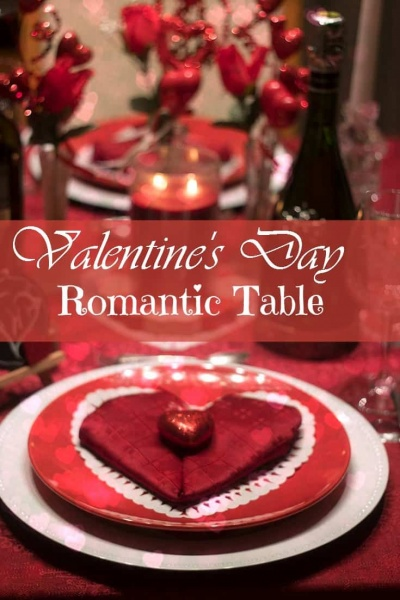Valentine's Day Table and Heart Napkins