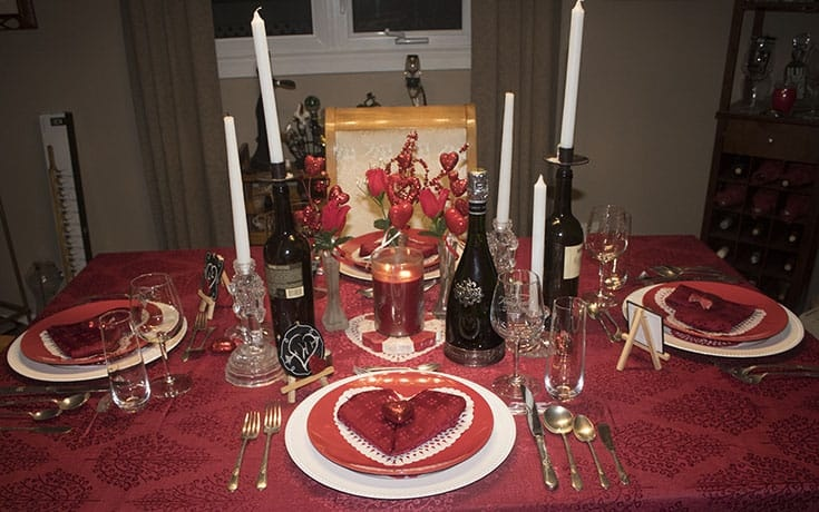 Hearts and Flowers for the perfect Valentine's Day Table at home