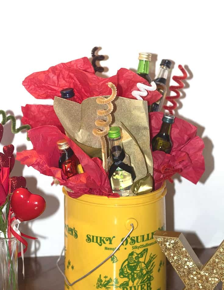 an Alcohol Bouquet for a Valentines's Day Gift