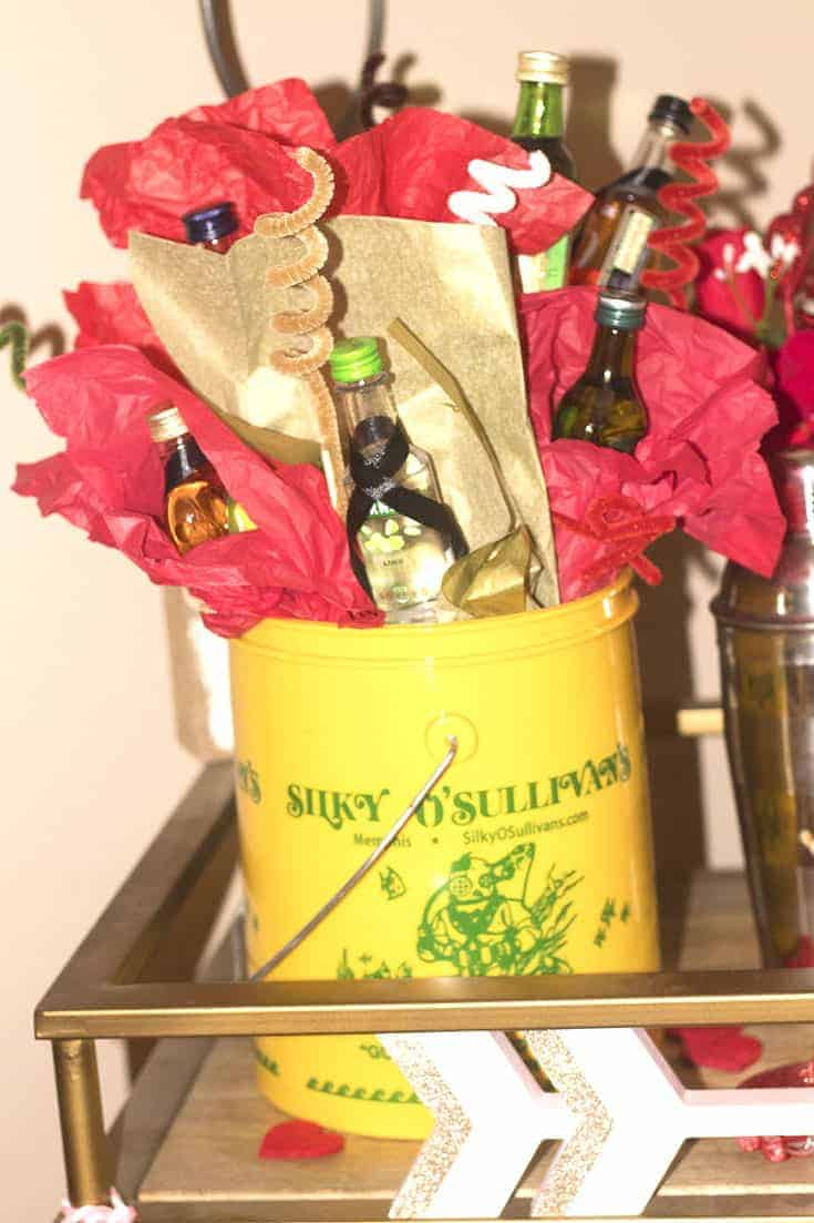 Alcohol Bouquet for a Valentines's Day Gift for the guy in your life