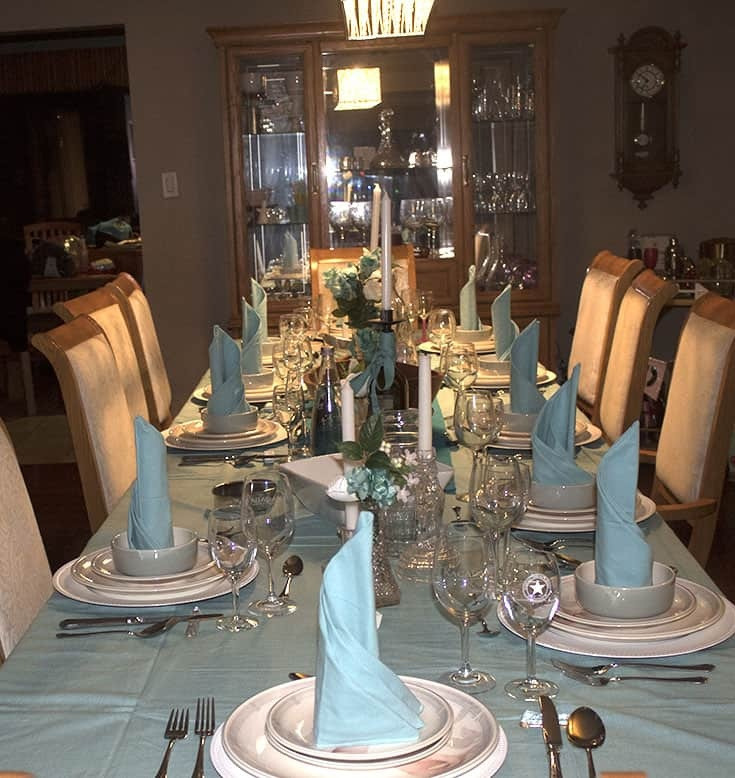 A Frozen Table or fit for a Spring Wedding, a Frozen Wedding Table