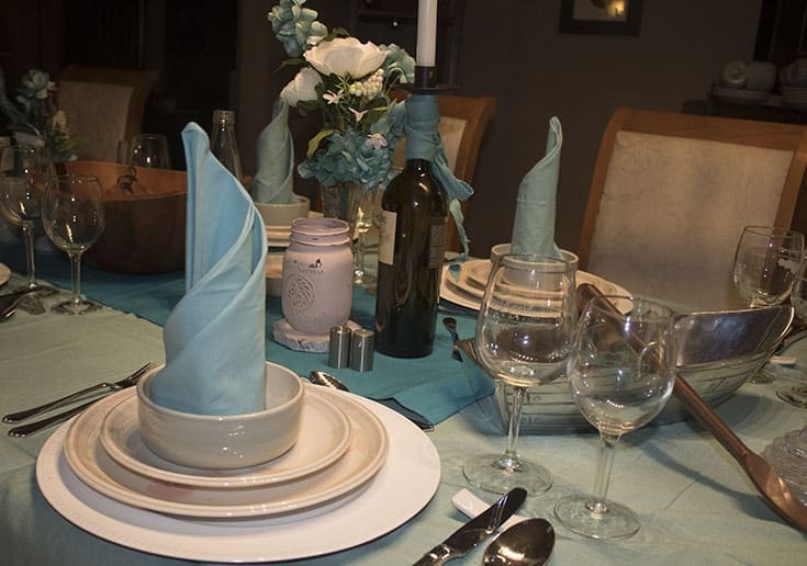 Frozen Themed Table and pretty aqua
