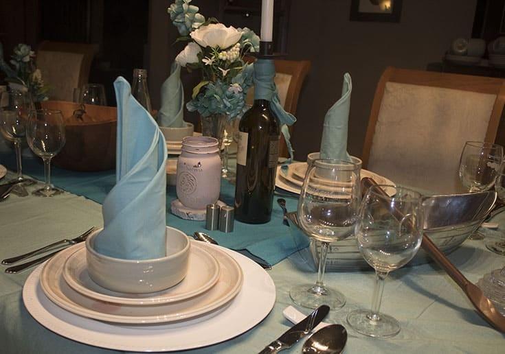 Frozen Themed Table and pretty aqua