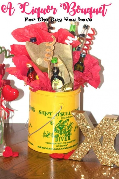 DIY Alcohol Bouquet for that Special Guy